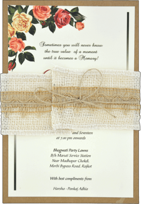Hindu Wedding Cards - HWC-9463 - 2