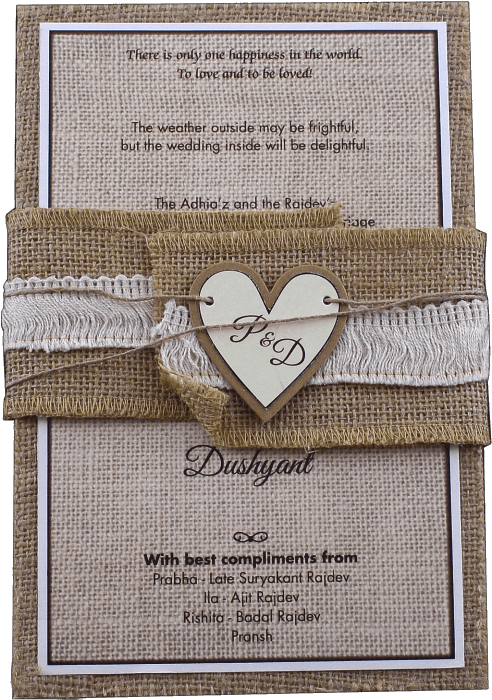 test Kraft Wedding Invitations - KWC-9401A