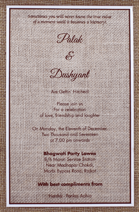 Kraft Wedding Invitations - KWC-9401A - 3