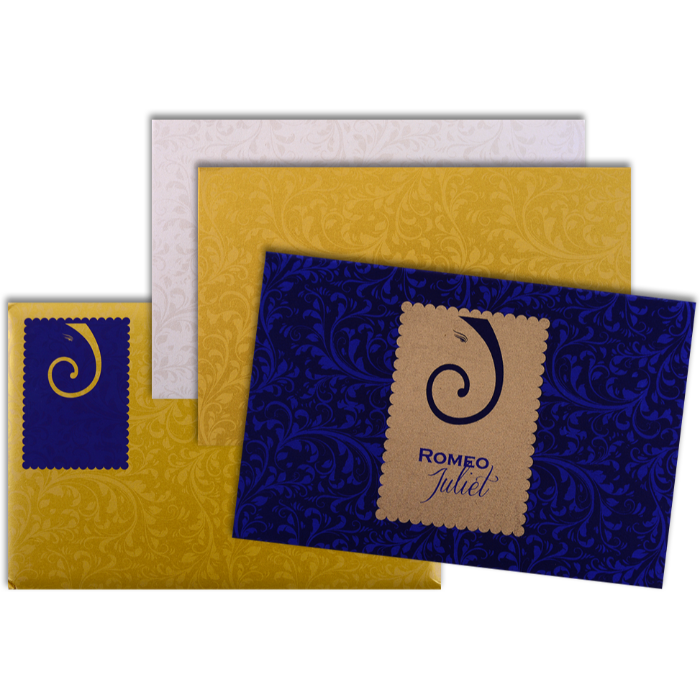 Fabric Wedding Cards - FWI-9026BG - 4