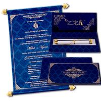 Custom Wedding Cards - CZC-6040B