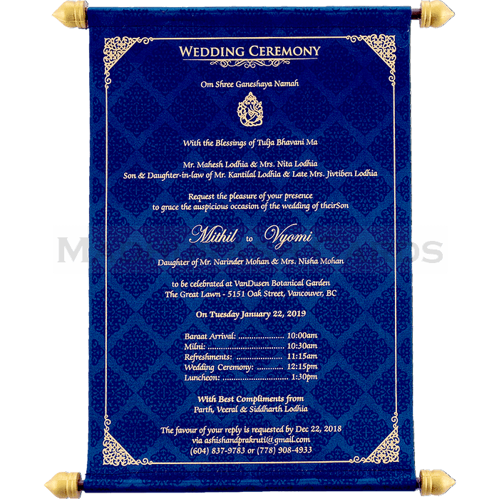 Custom Wedding Cards - CZC-6040B - 5