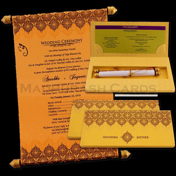 test Custom Wedding Cards - CZC-6046G