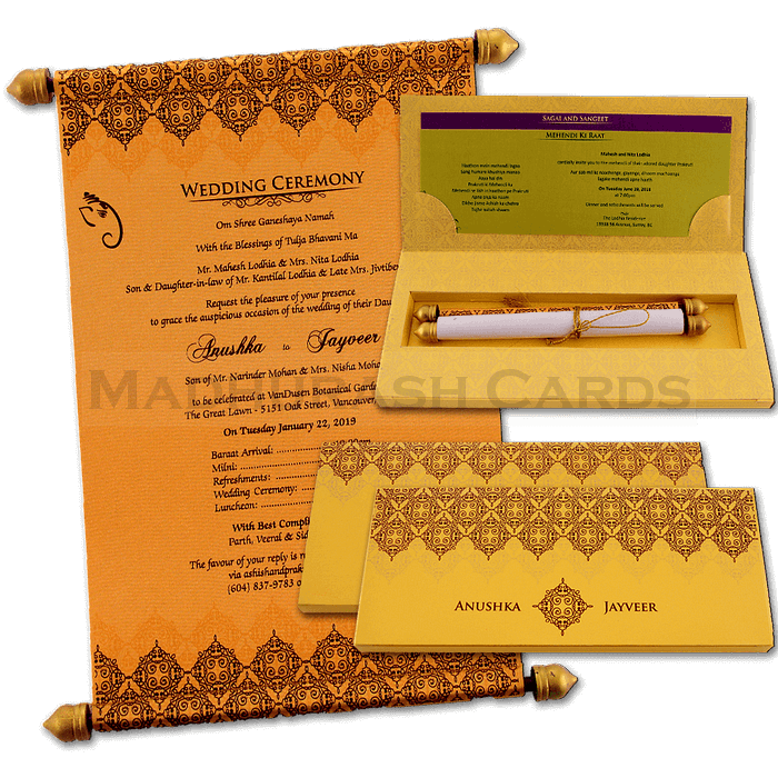 test Boxed Scroll Cards - SC-6046G