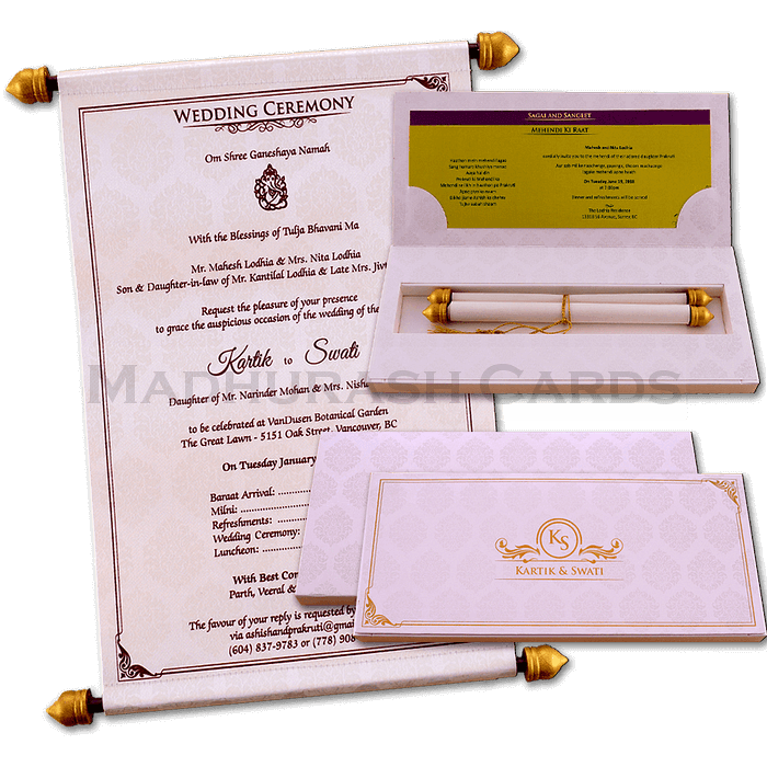 test Boxed Scroll Cards - SC-6047C