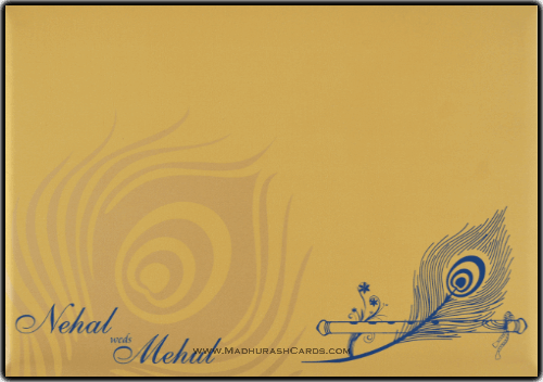 Hindu Wedding Cards - HWC-9105BG - 3