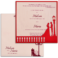 Muslim Wedding Cards - MWC-18043