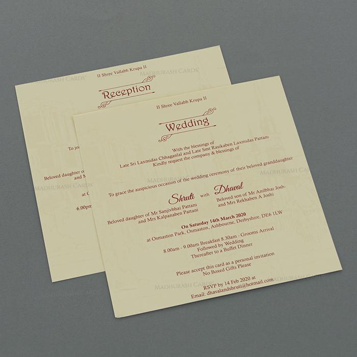 Designer Wedding Cards - DWC-18043 - 4