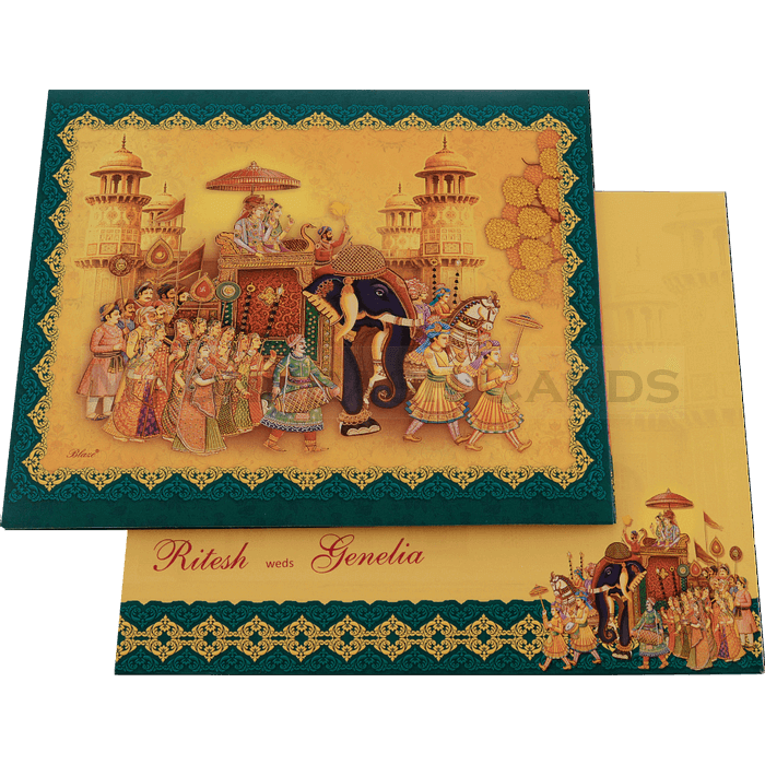 Hindu Wedding Cards - HWC-18109 - 3