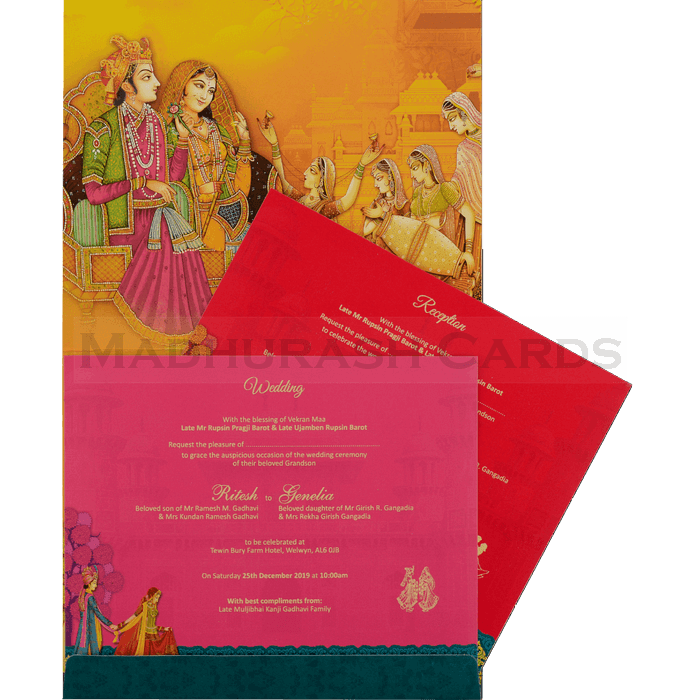 Hindu Wedding Cards - HWC-18109 - 4