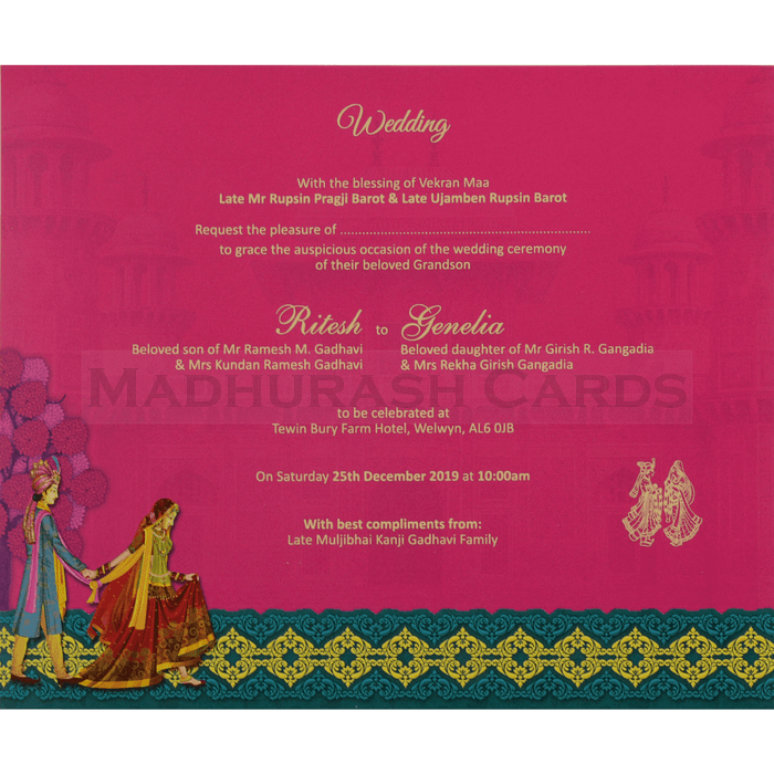 Hindu Wedding Cards - HWC-18109 - 5