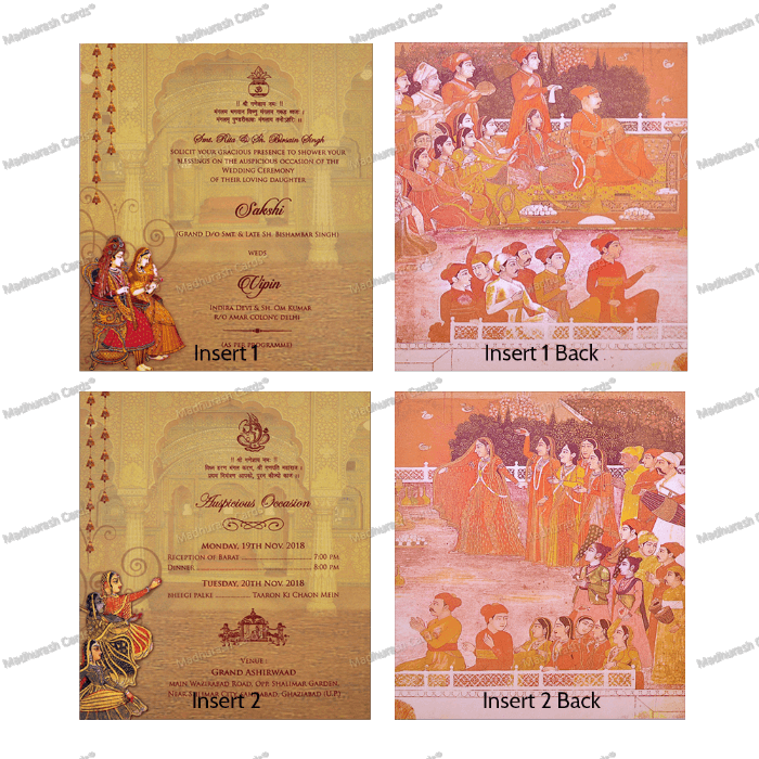 Hindu Wedding Cards - HWC-18112 - 4
