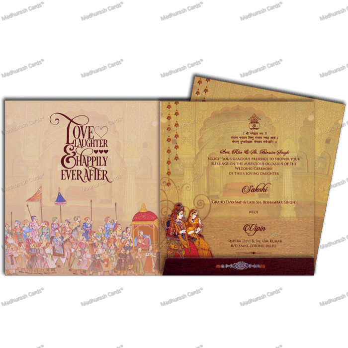 Hindu Wedding Cards - HWC-18112 - 5