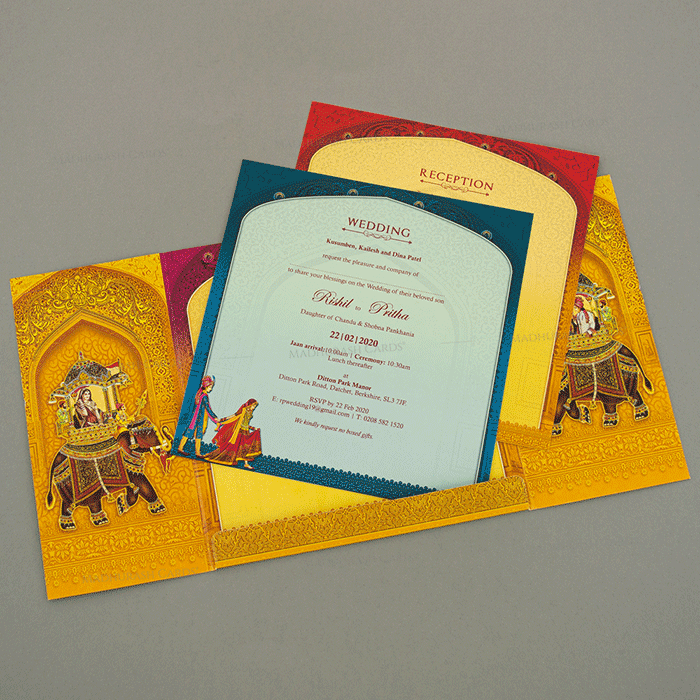 Hindu Wedding Cards - HWC-18145 - 4