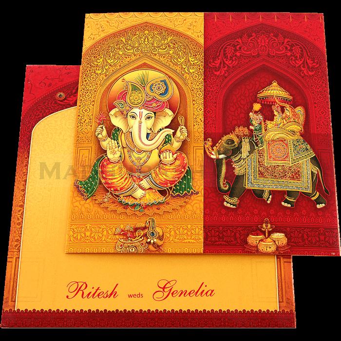 Designer Wedding Cards - DWC-18145 - 3