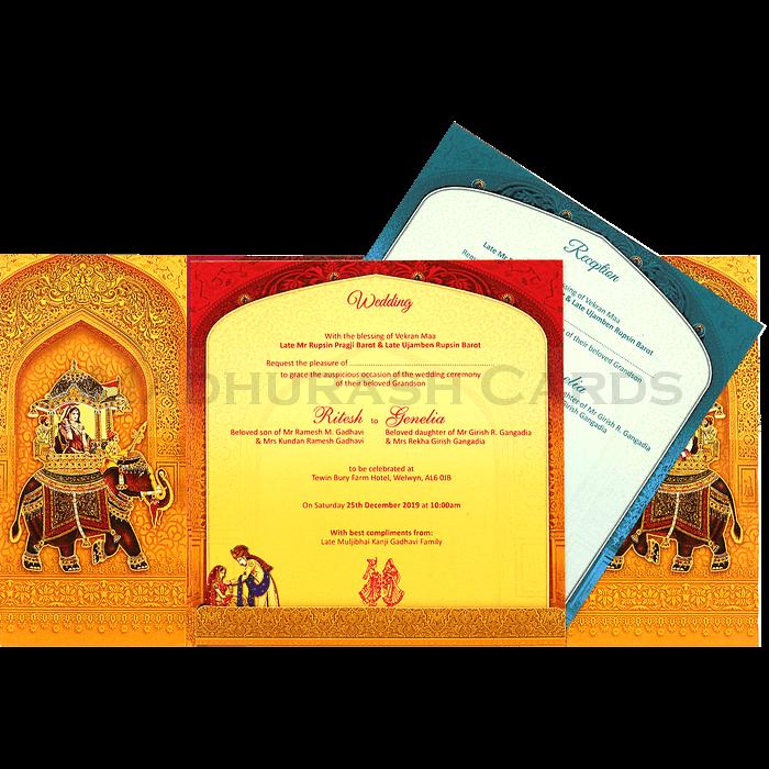 Designer Wedding Cards - DWC-18145 - 4