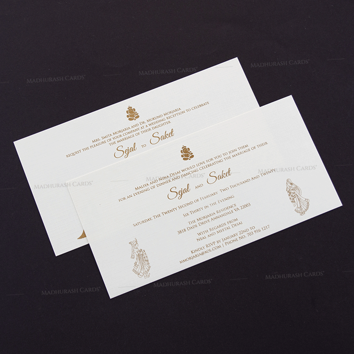 Designer Wedding Cards - DWC-18188 - 4