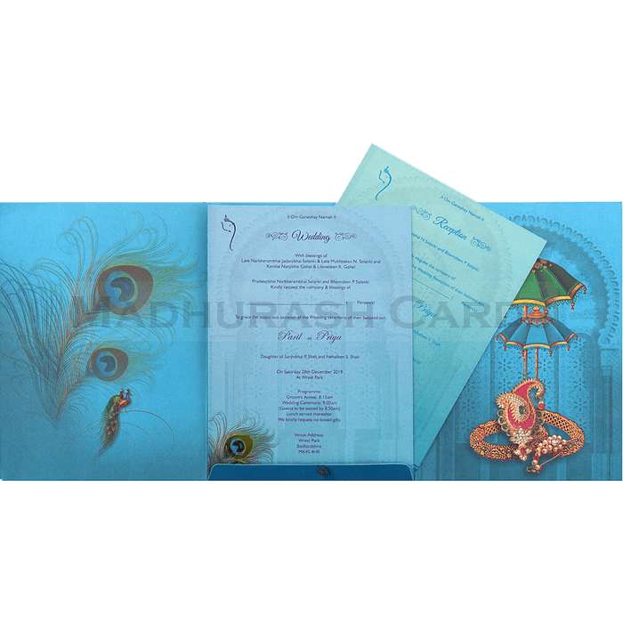 Hindu Wedding Cards - HWC-18078 - 4