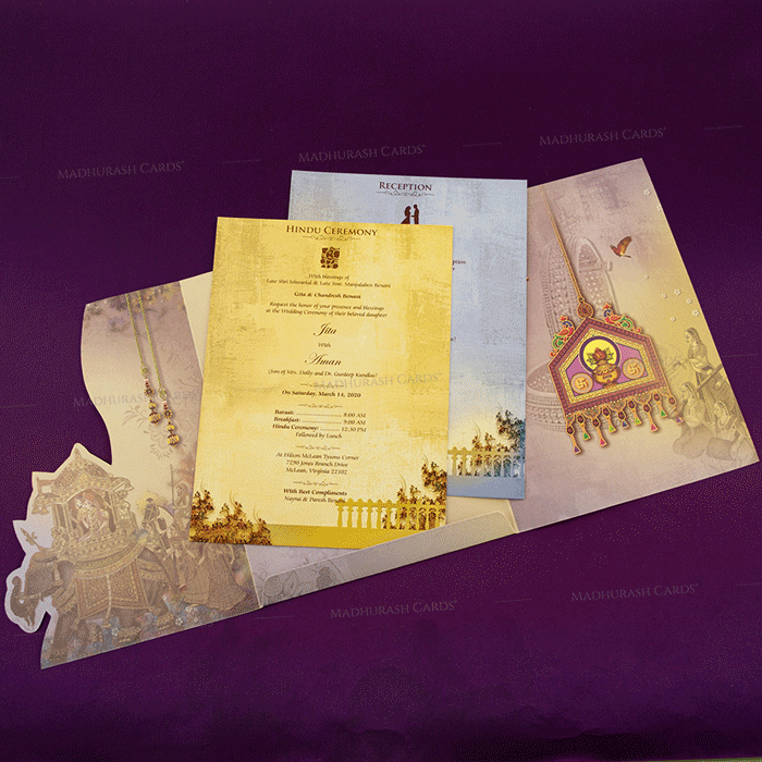 Hindu Wedding Cards - HWC-18079 - 4