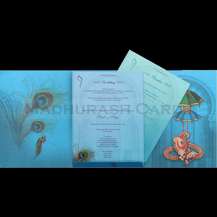 Designer Wedding Cards - DWC-18078 - 4
