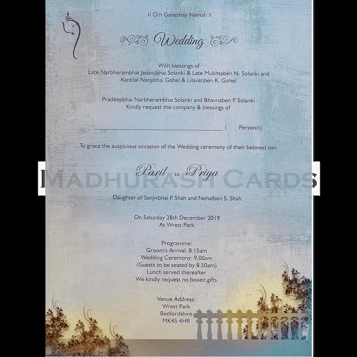 Designer Wedding Cards - DWC-18079 - 5