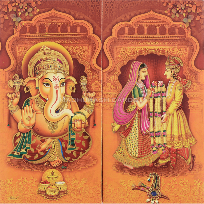 Hindu Wedding Cards - HWC-18128