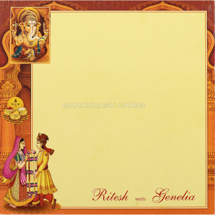 Hindu Wedding Cards - HWC-18128 - 3