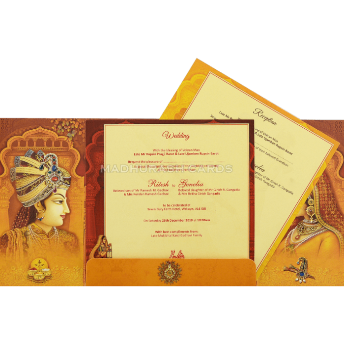 Hindu Wedding Cards - HWC-18128 - 4