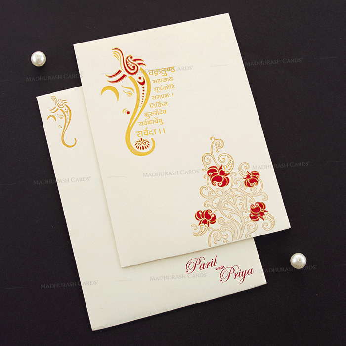 Hindu Wedding Cards - HWC-18256 - 2