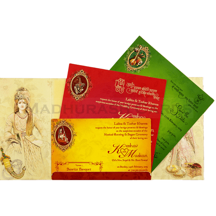 Hindu Wedding Cards - HWC-18104 - 4