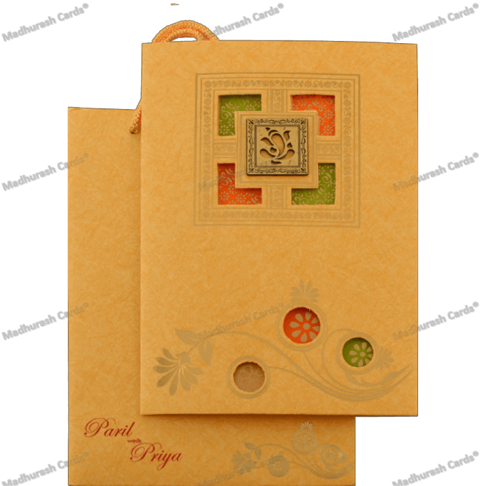 Hindu Wedding Cards - HWC-18134 - 5