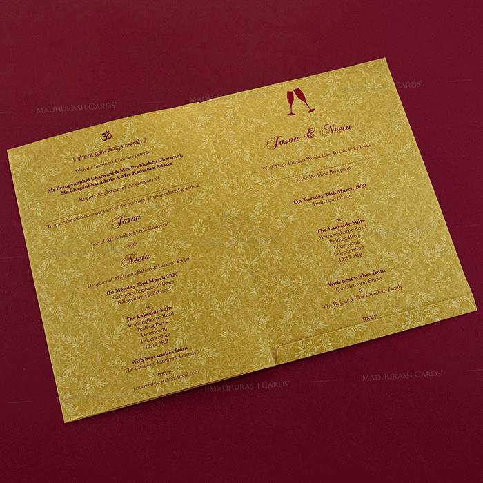 Hindu Wedding Cards - HWC-18191 - 4
