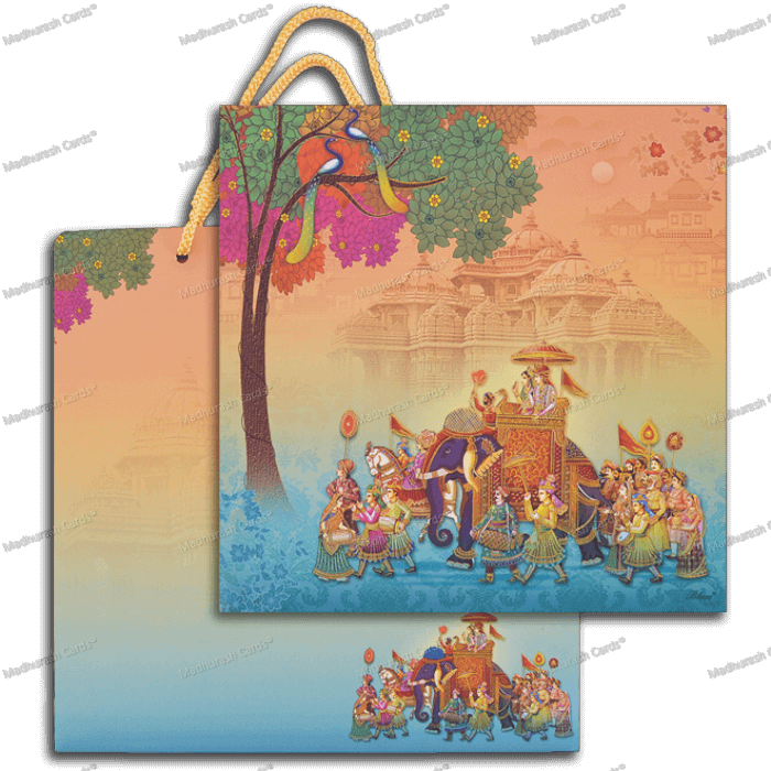 Hindu Wedding Cards - HWC-18101