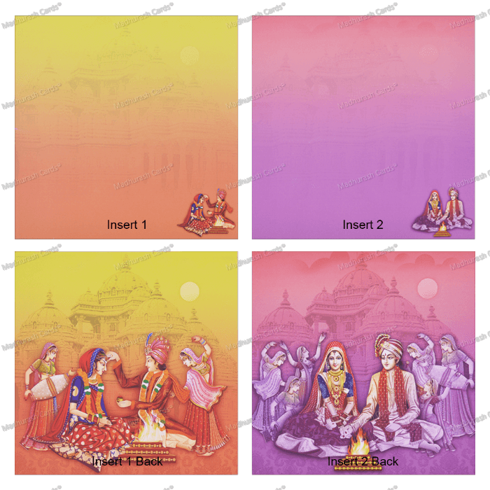 Hindu Wedding Cards - HWC-18101 - 5