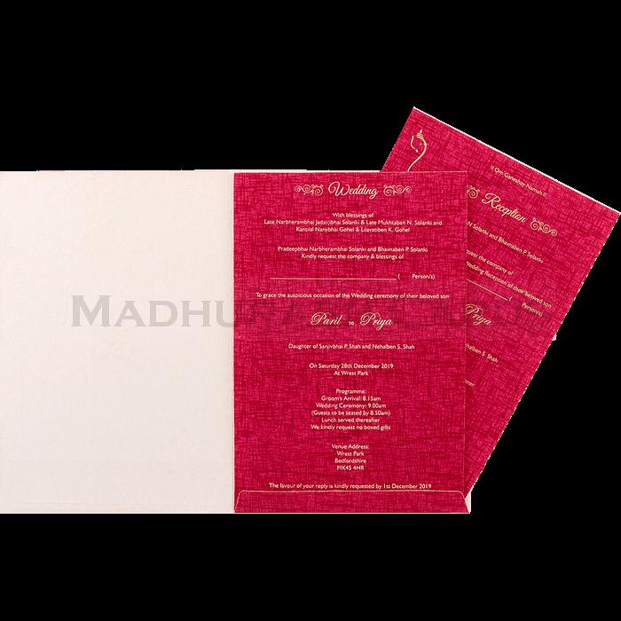 Hindu Wedding Cards - HWC-18197 - 4