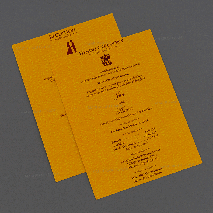 Hindu Wedding Cards - HWC-18244 - 4