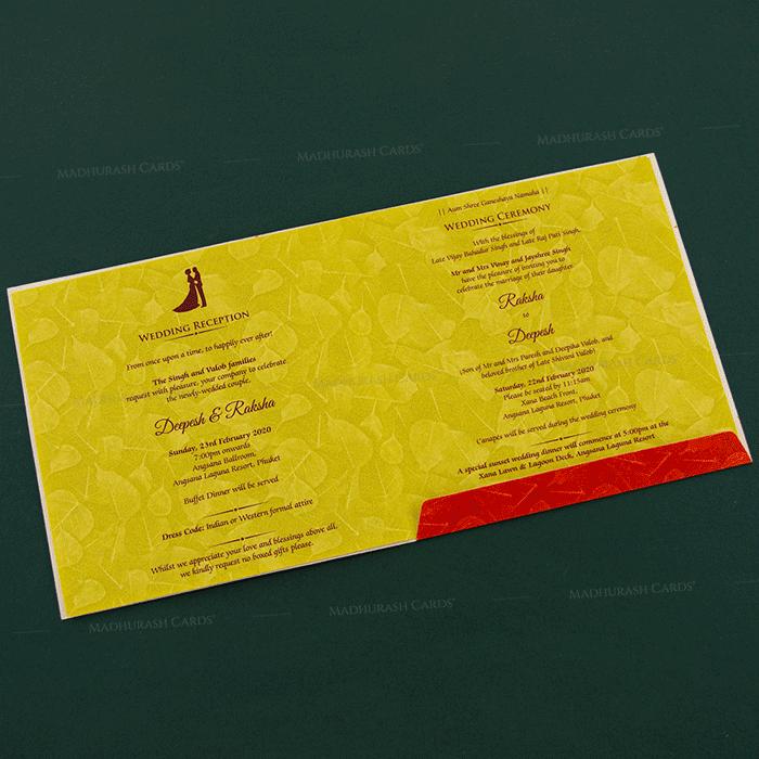 Hindu Wedding Cards - HWC-18271 - 4