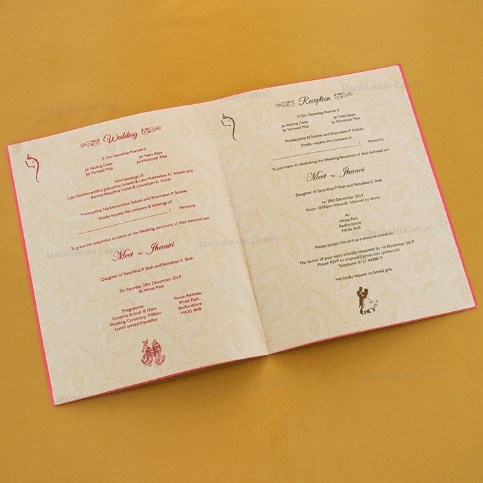 Hindu Wedding Cards - HWC-18293 - 4