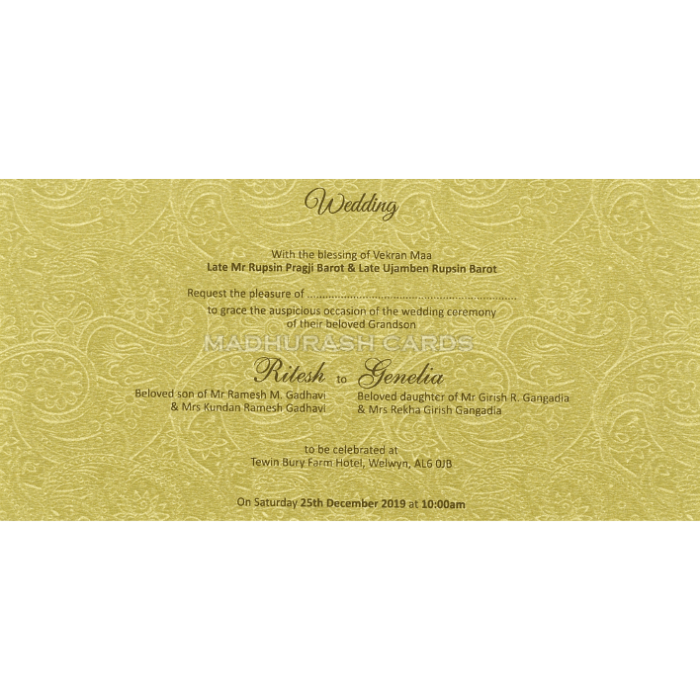 Hindu Wedding Cards - HWC-18106 - 5