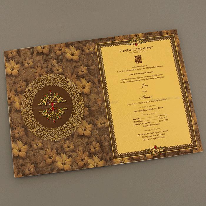 Hindu Wedding Cards - HWC-18039 - 4
