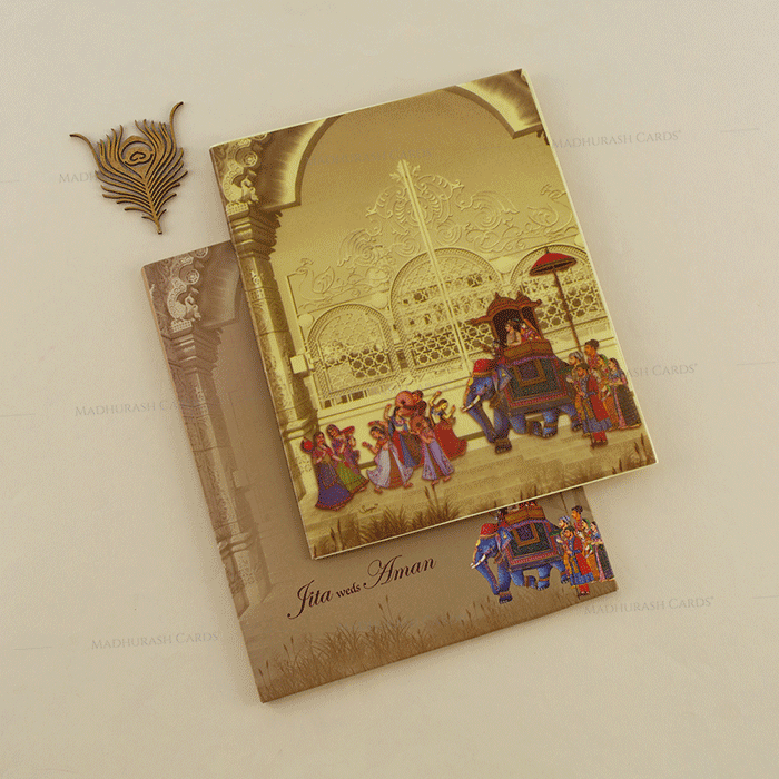 Hindu Wedding Cards - HWC-18060