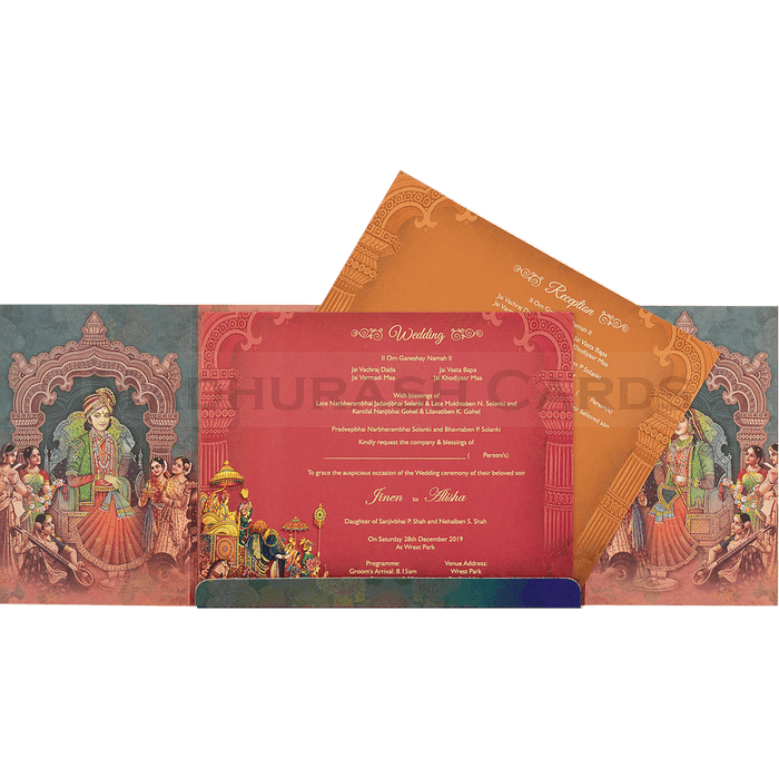 Hindu Wedding Cards - HWC-18084 - 4