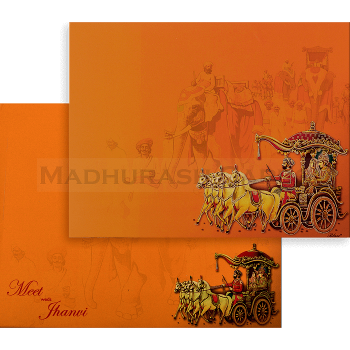 Hindu Wedding Cards - HWC-18120 - 3