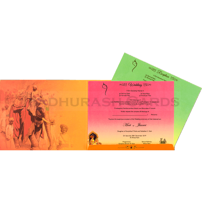 Hindu Wedding Cards - HWC-18120 - 4