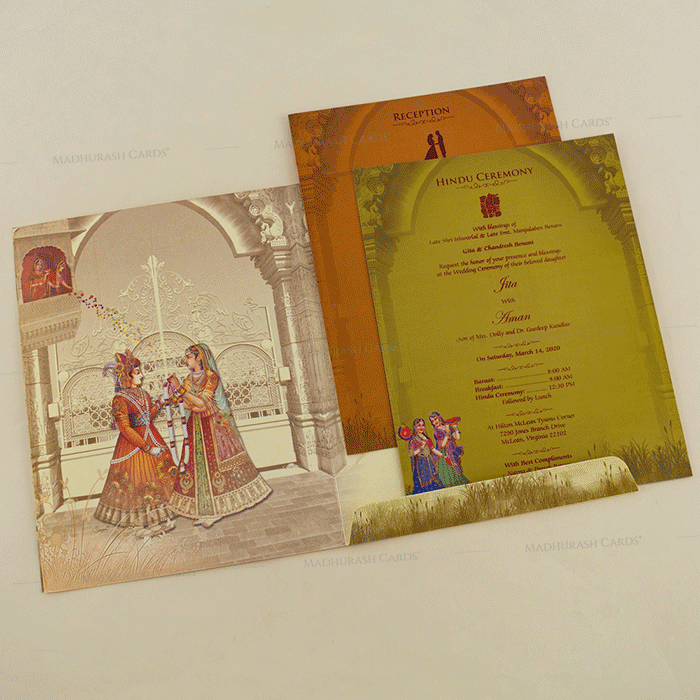 Designer Wedding Cards - DWC-18060 - 4