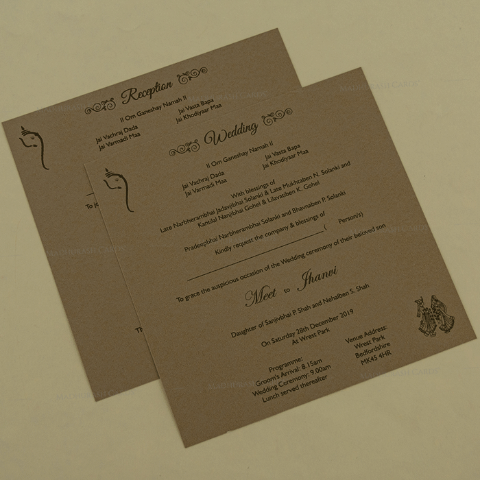 Hindu Wedding Cards - HWC-18137 - 4
