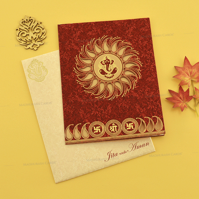 Hindu Wedding Cards - HWC-18189 - 2