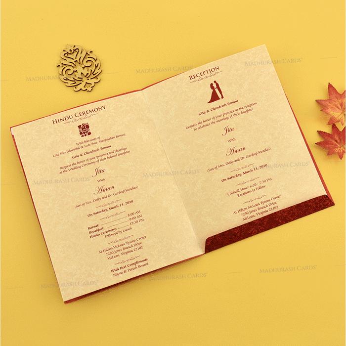 Hindu Wedding Cards - HWC-18189 - 4