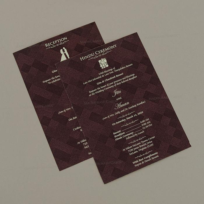 Hindu Wedding Cards - HWC-18202 - 4