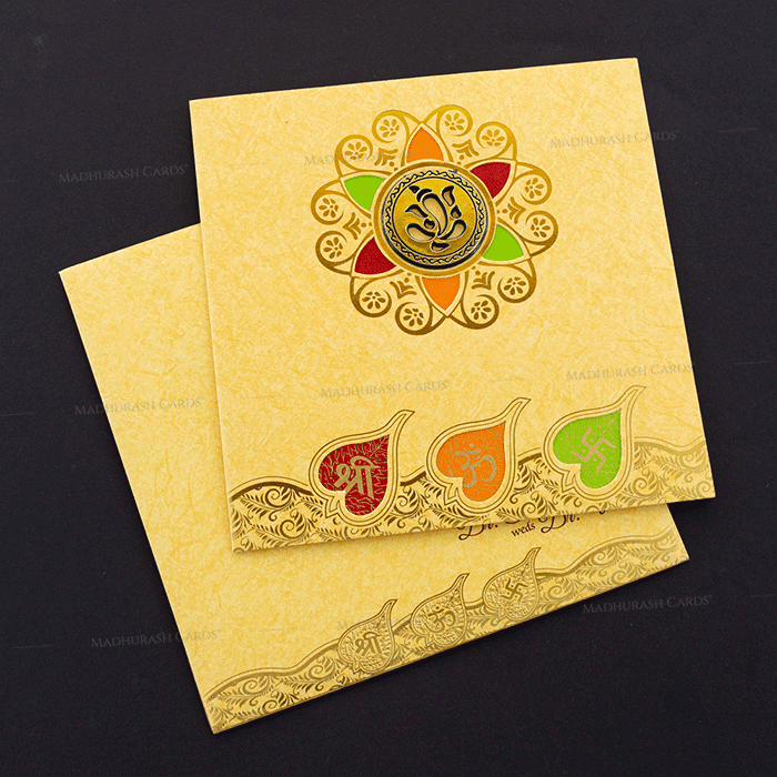 Hindu Wedding Cards - HWC-18212